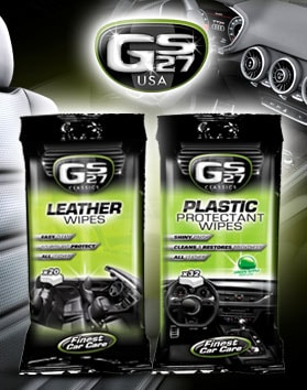 GS27 leather wipes & plastic protectant wipes