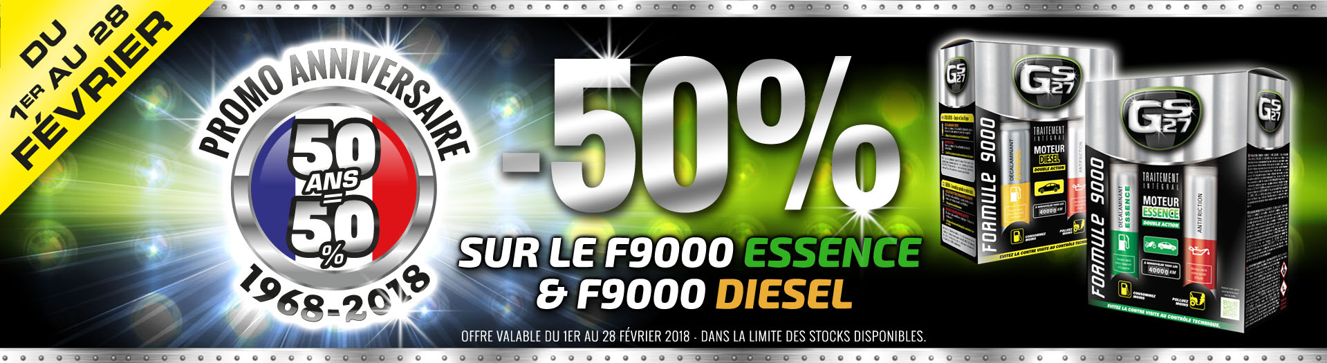 OFFRE SPECIALE 50 ANS